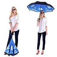 Недорогие Защита от дождя-Пластиковые & Металл / Ткань Все Cool Складные зонты