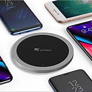 abordables Cargadores para iPod-nueve cinco nt1 carga universal Qi ultra delgado aleación de zinc cargador inalámbrico para apple iphone x