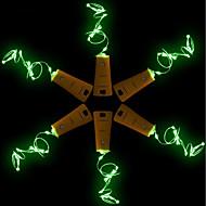 abordables Lámparas LED Novedosas-BRELONG® 5pcs Tapón de botella de vino Luz de noche LED Blanco Cálido / Blanco / Rojo Botón con pilas Creativo / Boda / Decoración <5 V