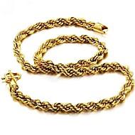 お買い得  -男性用 スタイリッシュ ネックレス  -  ゴールドメッキ 創造的 ファッション クール ゴールド 60 cm ネックレス ジュエリー 1個 用途 贈り物, 日常