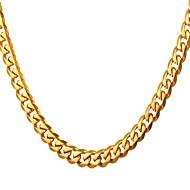 ieftine -Bărbați Lănțișoare Link / Lanț La modă Rock Modă Teak Auriu Negru Argintiu 55 cm Coliere Bijuterii 1 buc Pentru Cadou Zilnic