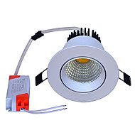 abordables Luces Descendentes-jiawen 3 colores cambiable led downlight 5w cob empotrado led panel punto de luz techo de techo luz cálida / natural / frío blanco ac100-240v