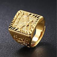 お買い得  -男性用 スタイリッシュ 指輪  -  18Kゴールド イーグル ファッション 調整可 ゴールド 用途 日常 パーティー