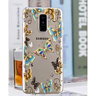 Недорогие Чехлы и кейсы для Galaxy A3(2017)-Кейс для Назначение SSamsung Galaxy A6+ (2018) / A6 (2018) Прозрачный / С узором Кейс на заднюю панель Бабочка Мягкий ТПУ для A6 (2018) / A6+ (2018) / A3 (2017)