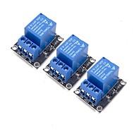お買い得  Arduino 用アクセサリー-arduinoアーム用3pcs 5vリレーモジュールpic avr mcu 5vインジケータライトled 1チャンネルリレーモジュール