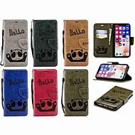 Недорогие Кейсы для iPhone 8-Кейс для Назначение Apple iPhone X / iPhone 7 Plus Кошелек / Бумажник для карт / Флип Чехол Панда Твердый Кожа PU для iPhone X / iPhone 8 Pluss / iPhone 8