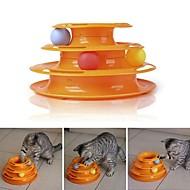 billige Kæledyr Forsyninger-Interaktivt / Legetøj / Mærkater Kæledyrsvenlig / Bærbar / Flerlags Plast Til Katte