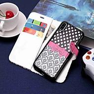 Недорогие Кейсы для iPhone 8 Plus-Кейс для Назначение Apple iPhone XR / iPhone XS Max Кошелек / Бумажник для карт / со стендом Чехол Мультипликация Твердый Кожа PU для iPhone XS / iPhone XR / iPhone XS Max