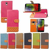 preiswerte Handyhüllen-Hülle Für Lenovo A Plus(A Plus A1010a20) Geldbeutel / Kreditkartenfächer / mit Halterung Ganzkörper-Gehäuse Anwendung Hart Textil für Lenovo P2(Lenovo P2 P2a42, Lenovo Vibe P2) / Lenovo Vibe C