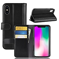 cheap iPhone 8 Cases-Case For Apple iPhone XS / iPhone XR Wallet / Card Holder / Flip Full Body Cases Solid Colored Hard Genuine Leather for iPhone XS / iPhone XR / iPhone XS Max