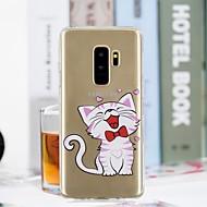Недорогие Чехлы и кейсы для Galaxy S8 Plus-Кейс для Назначение SSamsung Galaxy S9 Plus / S9 Прозрачный / С узором Кейс на заднюю панель Кот Мягкий ТПУ для S9 / S9 Plus / S8 Plus