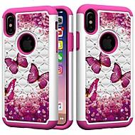 Недорогие Кейсы для iPhone 8 Plus-Кейс для Назначение Apple iPhone XR / iPhone XS Max Защита от удара / Стразы Кейс на заднюю панель Бабочка / Стразы Твердый ПК для iPhone XS / iPhone XR / iPhone XS Max