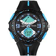 levne -SMAEL Pánské Sportovní hodinky Digitální hodinky japonština Digitální Silikon Černá 50 m Voděodolné Kalendář Chronograf Analog - Digitál Módní - Černá Černá / Modrá / Svítící