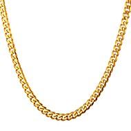 ieftine -Bărbați Lănțișoare Link / Lanț Box lanț Mariner Chain Modă Teak Auriu Negru Argintiu 55 cm Coliere Bijuterii 1 buc Pentru Cadou Zilnic