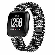 Недорогие Аксессуары для смарт-часов-Ремешок для часов для Fitbit Versa Fitbit Спортивный ремешок Нержавеющая сталь Повязка на запястье