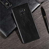Недорогие Чехлы и кейсы для Galaxy A7(2016)-Кейс для Назначение SSamsung Galaxy A8 Plus 2018 / A8 2018 Ультратонкий / Матовое Кейс на заднюю панель Однотонный Мягкий Кожа PU для A6 (2018) / A6+ (2018) / A3 (2017)