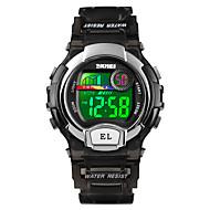 cheap -SKMEI Women's Sport Watch Wrist Watch Digital 50 m Alarm Calendar / date / day Chronograph PU Band Digital Casual Fashion Black / Blue / Purple - Black Purple Blue One Year Battery Life