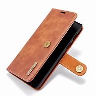 お買い得  -DG.MING ケース 用途 OnePlus OnePlus 6 ウォレット / カードホルダー / スタンド付き フルボディーケース ソリッド ハード 本革 のために OnePlus 6