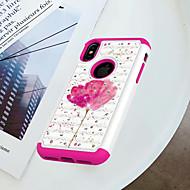 Недорогие Кейсы для iPhone 8-Кейс для Назначение Apple iPhone X / iPhone 8 Защита от удара / Стразы / С узором Кейс на заднюю панель Цветы Твердый ПК для iPhone X / iPhone 8 Pluss / iPhone 8