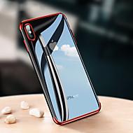 Недорогие Кейсы для iPhone 8-Кейс для Назначение Apple iPhone X / iPhone 8 Покрытие / Ультратонкий / Прозрачный Кейс на заднюю панель Однотонный Мягкий ТПУ для iPhone X / iPhone 8 Pluss / iPhone 8