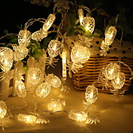 cheap -2.2m String Lights 20 LEDs Warm White Adorable / Cool AA Batteries Powered 1pc