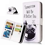 Недорогие Кейсы для iPhone 8 Plus-Кейс для Назначение Apple iPhone XR / iPhone XS Max Кошелек / Бумажник для карт / со стендом Чехол С собакой Твердый Кожа PU для iPhone XS / iPhone XR / iPhone XS Max