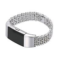Недорогие Аксессуары для смарт-часов-Ремешок для часов для Fitbit Charge 2 Fitbit Классическая застежка / Дизайн украшения Нержавеющая сталь Повязка на запястье