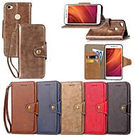 preiswerte Handyhüllen-Hülle Für Xiaomi Redmi Note 5A / Redmi Note 5 Pro Geldbeutel / Kreditkartenfächer / mit Halterung Ganzkörper-Gehäuse Solide Hart PU-Leder für Redmi Note 5A / Xiaomi Redmi Note 5 Pro / Xiaomi Redmi