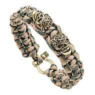 cheap -Men's Braided Loom Bracelet - Skull Vintage, Punk Bracelet Gold / Silver / Rose Gold For Street Club