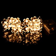 cheap -2.2m String Lights 20 LEDs Warm White Cool AA Batteries Powered 1pc