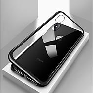 Недорогие Кейсы для iPhone 8 Plus-Кейс для Назначение Apple iPhone X / iPhone 8 / iPhone 8 Plus Защита от удара / Прозрачный / Магнитный Чехол Однотонный Твердый Закаленное стекло / Металл для iPhone X / iPhone 8 Pluss / iPhone 8