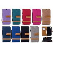 Недорогие Кейсы для iPhone 8 Plus-Кейс для Назначение Apple iPhone XR / iPhone XS Max Кошелек / Бумажник для карт / со стендом Чехол Однотонный Твердый текстильный для iPhone XS / iPhone XR / iPhone XS Max