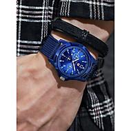 cheap -Men's Sport Watch Quartz Chronograph Casual Watch Cool Cloth Band Analog Vintage Fashion Black / Blue / Green - Black Green Blue One Year Battery Life