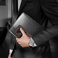Недорогие Чехлы и кейсы для Galaxy Note-BENTOBEN Кейс для Назначение SSamsung Galaxy Note 9 Бумажник для карт / Ультратонкий / Wireless Charging Receiver Case Кейс на заднюю панель Однотонный Твердый Кожа PU / ТПУ / ПК для Note 9