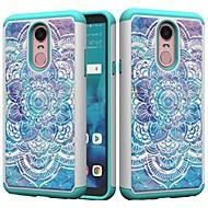 preiswerte Handyhüllen-Hülle Für LG K10 2018 / G7 Stoßresistent / Strass / Muster Rückseite Mandala / Strass Hart PC für LG Stylo 4 / LG K10 2018 / LG K10 (2017)