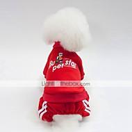 abordables -Chiens Sweatshirt Vêtements pour Chien Britannique / Slogan Bleu de minuit / Rouge / Rose Coton Costume Pour les animaux domestiques Unisexe Décontracté / Quotidien / Guêtres