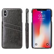 pouzdro pro Apple iphone xr xs xs max držák karty / nárazuvzdorný zadní kryt pevné barevné tvrdé pu kůže pro iPhone x 8 8 plus 7 7plus 6s 6s plus se 5 5s