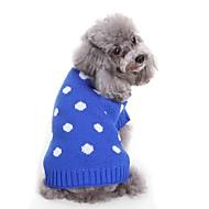 abordables -Chiens Pull Vêtements pour Chien Taches & Carreaux / Fil teint / Personnage Bleu / Rose Térylène Costume Pour les animaux domestiques Unisexe Taches & Carreaux / Style Mignon