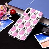 Недорогие Кейсы для iPhone 8-Кейс для Назначение Apple iPhone XS / iPhone XS Max IMD / Полупрозрачный Кейс на заднюю панель Фрукты Мягкий ТПУ для iPhone XS / iPhone XR / iPhone XS Max