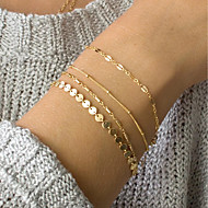 billige Smykker & Ure-Dame Link / Chain ID armbånd - Trendy, Elegant Armbånd Guld Til Daglig Arbejde / 4stk