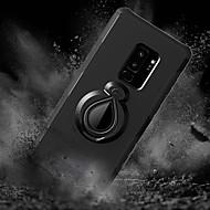 Недорогие Чехлы и кейсы для Galaxy S9 Plus-Кейс для Назначение SSamsung Galaxy S9 Plus / S8 Plus Защита от удара / со стендом / Кольца-держатели Кейс на заднюю панель Плитка / броня Твердый ПК для S9 / S9 Plus / S8 Plus