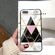 Недорогие Кейсы для iPhone 8 Plus-Кейс для Назначение Apple iPhone X / iPhone 8 Plus С узором Кейс на заднюю панель Мрамор Твердый Закаленное стекло для iPhone X / iPhone 8 Pluss / iPhone 8
