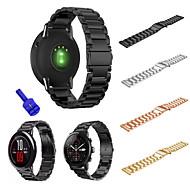 Недорогие Аксессуары для смарт-часов-Ремешок для часов для Huami Amazfit A1602 Xiaomi Спортивный ремешок Нержавеющая сталь Повязка на запястье