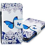 Недорогие Чехлы и кейсы для Galaxy S8 Plus-Кейс для Назначение SSamsung Galaxy S9 Plus / S9 Кошелек / Бумажник для карт / со стендом Чехол Бабочка Твердый Кожа PU для S9 / S9 Plus / S8 Plus