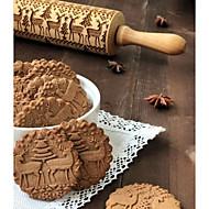 abordables Outils de cuisine-Outils de cuisson Bois Nouvelle arrivee / Noël Petit gâteau Animal Rouleau à Pâtisserie 1pc