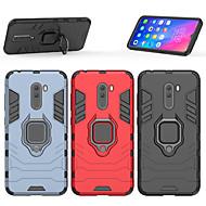 お買い得  携帯電話ケース-ケース 用途 Xiaomi Xiaomi Pocophone F1 バンカーリング バックカバー 鎧 ハード PC のために Xiaomi Pocophone F1 / Xiaomi Mi 8 / Xiaomi Mi 8 SE