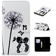 Недорогие Кейсы для iPhone 8 Plus-Кейс для Назначение Apple iPhone XS / iPhone XS Max Кошелек / Бумажник для карт / со стендом Чехол одуванчик Твердый Кожа PU для iPhone XS / iPhone XR / iPhone XS Max