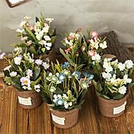 cheap -Artificial Flowers 1 Branch Classic Rustic / Retro Chrysanthemum / Vase Tabletop Flower
