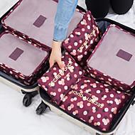 preiswerte Alles fürs Reisen-6 Sätze Reisekoffersystem Tragbar / Wasserdicht / Kulturtasche BH / Kleider Nylon Reise