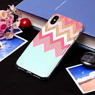 Недорогие Кейсы для iPhone 8-Кейс для Назначение Apple iPhone XS / iPhone XS Max IMD / Полупрозрачный Кейс на заднюю панель Полосы / волосы Мягкий ТПУ для iPhone XS / iPhone XR / iPhone XS Max
